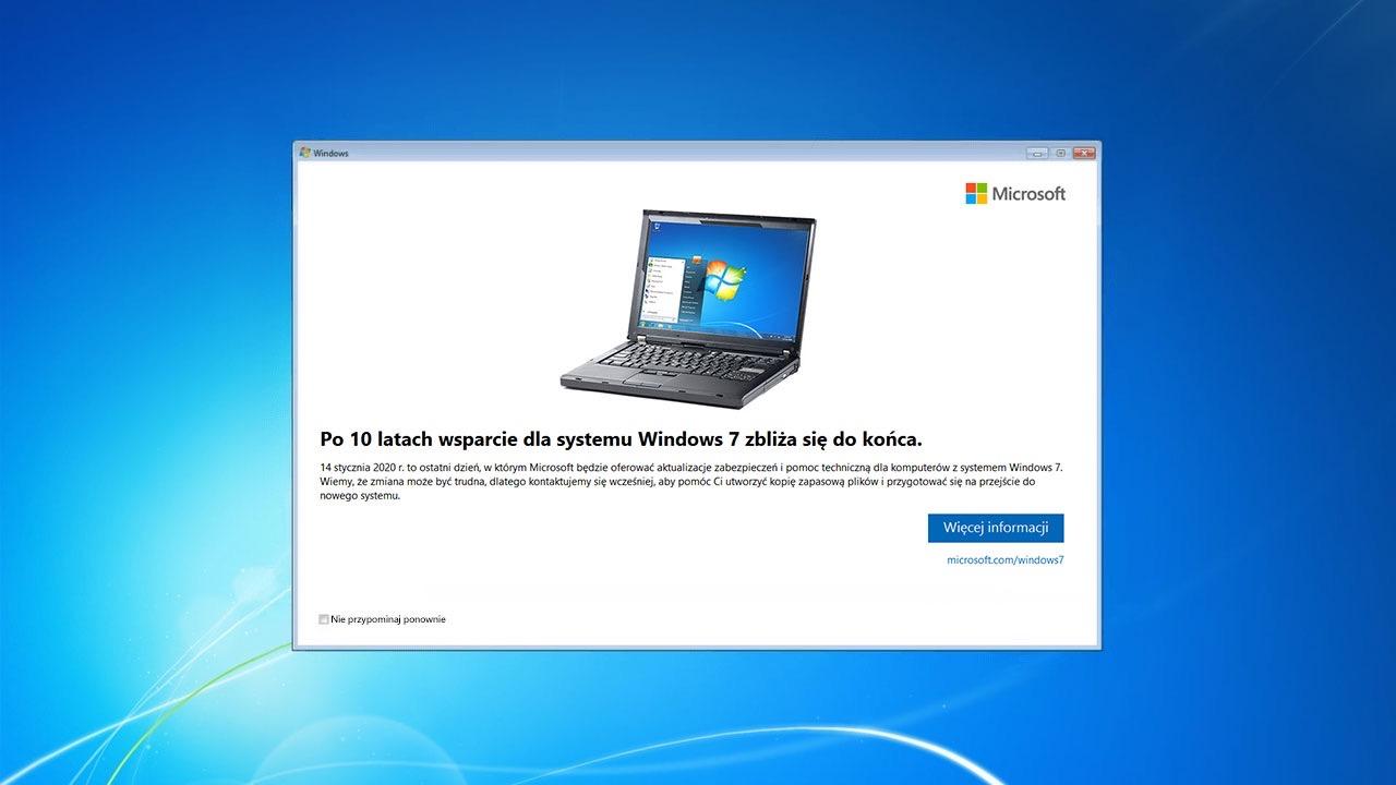 Aktulizacja Windows 7 do Windows 10
